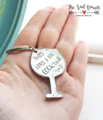 wine glass keychain personalized a big cocktail sted novelty pewter