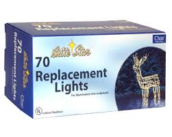 70 ct replacement lights for wire frame deer 37 600 00
