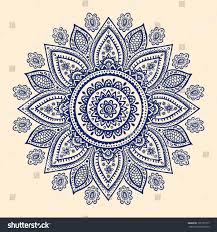 beautiful indian paisley ornament your business stock vector