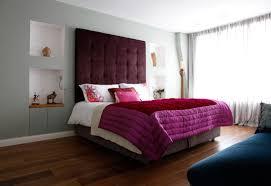 Master Bedroom Design Purple Double Set Bed Whie Color Contemporary Master Bedroom Design Ideas
