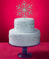 snowflake cake topper silver wedding cake with snowflake topper a wedding cake
