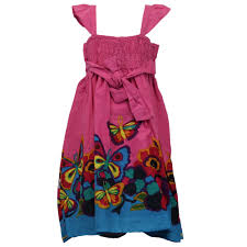 girls kids butterfly print beads sequin layered top gypsy dress ebay