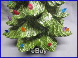 16 ceramic christmas tree light with music box holly leaf u0026 berry base