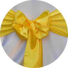 yellow chair sashes chair sash rental satin sash canary yellow chair cover rentals