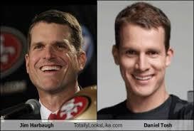 Daniel Tosh Meme - jim harbaugh totally looks like daniel tosh totally looks like