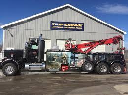 Trailer Garage 24 Hour Towing Heavy Tow Trucks Newport Me T U0026 W Garage Inc