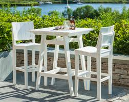 Plastic Bar Table Patio Furniture Bar Height Chairs Mad American Recycled