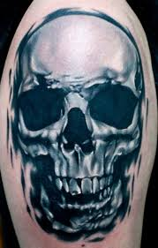scary realistic skull tattoo design idea golfian com