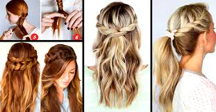 quick hairstyles for long hair at home 30 cute and easy braid tutorials that are perfect for any occasion