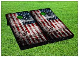 american flag usa beanbag toss game w bags game boards