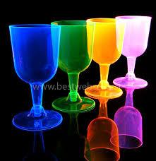 bicchieri fluorescenti 4 bicchieri reagenti agli uv wood glow fluo per il vino mod4