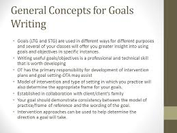goal writing of occupational therapy objectives of goal