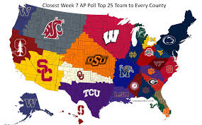 Nebraska State Map Reddit User Maps Closest Ap Top 25 Team To Every U S County
