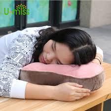 u miss crystal velvet travel portable neck student rest sleeping cervical for office desk nap pillow in pillows from home garden on