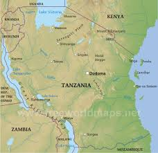 The Great Plains Map Tanzania Physical Map