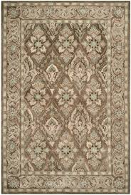 6x9 Wool Area Rugs Brown And Beige Area Rug Visionexchange Co
