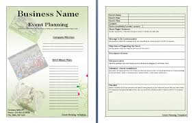 6 event planner template bookletemplate org