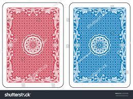 blue cards back original decorations stock vector 620387096