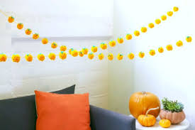 pumpkin pom pom garland 12 steps with pictures