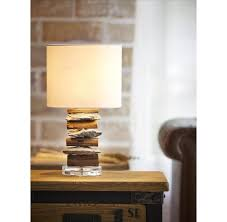 stone and driftwood table lamp u2013 othentique
