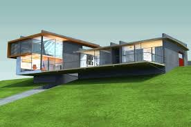 hillside house plans for sloping lots plans home plans for sloped lots hillside house design with field