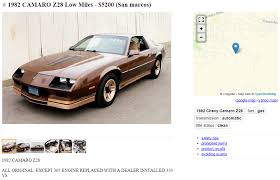 82 camaro z28 parts craigslist finds cars of the year where are they now bestride