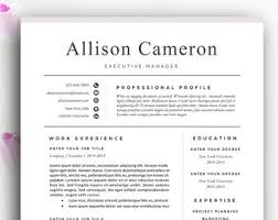 2 Page Resume Sample by Resume Examples Etsy