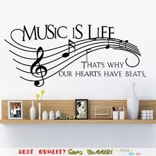 aliexpress com buy large size note music is life wall sticker aliexpress com buy large size note music is life wall sticker house decoration wedding decor living room decals music party classroom decor supply from