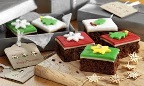 christmas cake brownies recipe dr oetker
