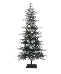 tree classics holiday time s prelit u flocked holiday white pine