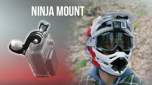 helmets for motocross ninja mount action cam mount for downhill motocross u0026 atv by