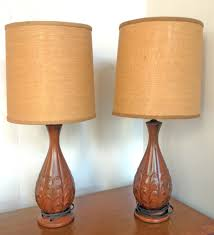 Burlap Chandelier Shades Pair Of Mid Century Artichoke Lamps
