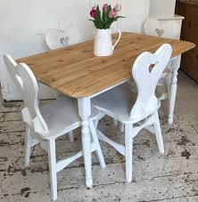 Shabby Chic Table by 4 X Shabby Chic Heart Chairs Home Sweet Homehome Sweet Home