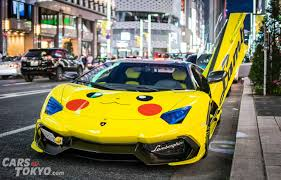 lamborghini aventador modified cars of tokyo modified lamborghini aventador morohoshi pikachu