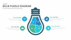 bulb puzzle diagram powerpoint and keynote template slidebazaar