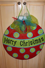 wood christmas ornament door hanger