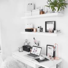 Wall Desk Ikea by Minimal Desk Ikea Floating Shelves With Rose Gold Detail Home