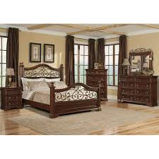 Mirrored Furniture Bedroom Set San Marcos Bedroom Bed Dresser U0026 Mirror King 872 Bedroom