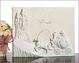wedding registry book cassiani collection cinderella carriage and castle