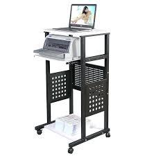 Small Computer Printer Table Desk Apollo Caddy Rolling Laptop Computer Desk Small Computer