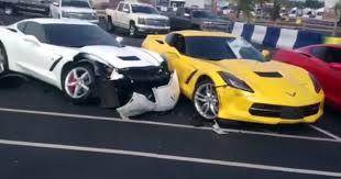 damaged corvettes for sale two 2014 corvette stingray s damaged by chevy impala gtspirit