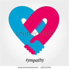 friendship heart handshake sympathy friendship concept vector stock vector