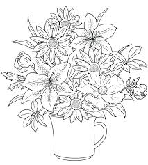 printable coloring pages flowers pretty flower coloring pages pretty coloring pages realistic flower