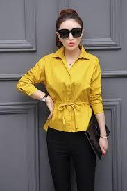 elastic waist blouse kettymore collar neck elasticated waist shirt and blouse