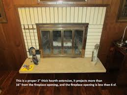 fireplace hearth extension rules structure tech home inspections