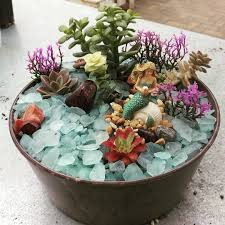 Mermaid Fairy Miniature Mermaid Gardens Are The Coolest Take On Fairy Gardens