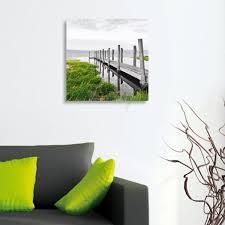 art on wall deco glass wall decor art on glass idyllic jetty ojcommerce