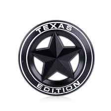 chevy jeep texas edition star logo metal emblem badge sticker for ford fender