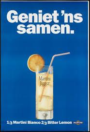 martini bitter 1 3 martini bianco 2 3 bitter lemon geheugen van nederland