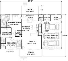 ranch style house plan 3 beds 2 baths 1597 sq ft plan 56 623